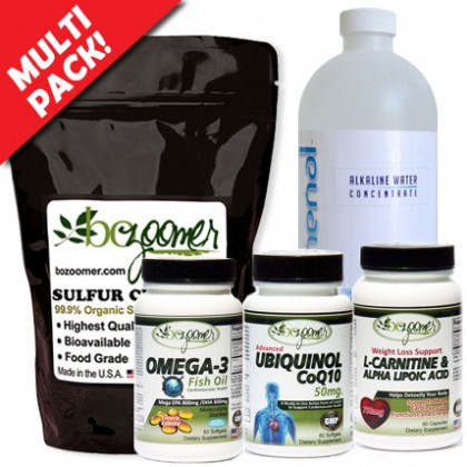 Sulfur + CoQ10-Ubiquinol + L-Carnitine & Alpha Lipoic Acid + Omega-3 Fish Oil ADD pHenomenal water UP TO $41.80 SAVINGS! - Promo Code is excluded