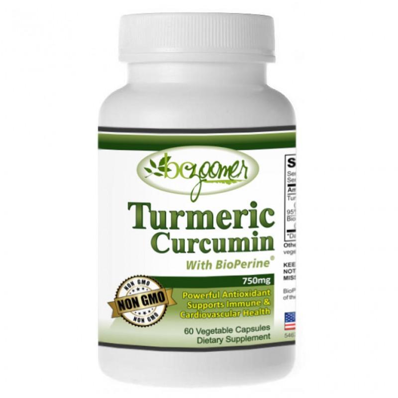 Turmeric-Curcumin with BioPerine - 60/180 Capsules 750mg