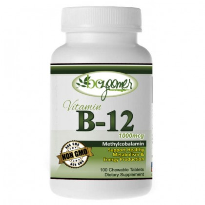 B-12 - 1000mcg - Chewable Tablets 100/500 count