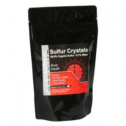 Cognitive Organic Sulfur Crystals - 16oz / 1lb. Bag = 90 Day Supply
