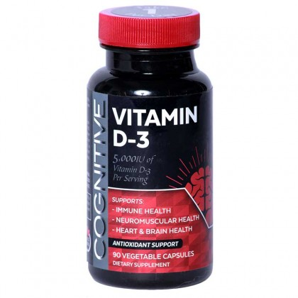 Cognitive Vitamin D-3  5000 IU  non GMO - 90 Veggie Caps