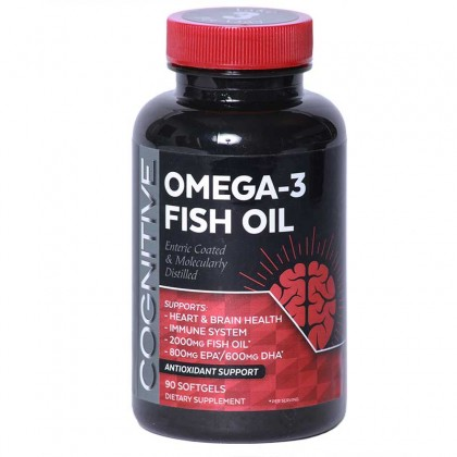 Cognitive Omega-3 Mega EPA/DHA Enteric Coated NON GMO - 60/120 Count