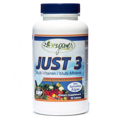 JUST 3 - Complete 3 per day high potency blend of vitamins and minerals formula - 90/270 tablets