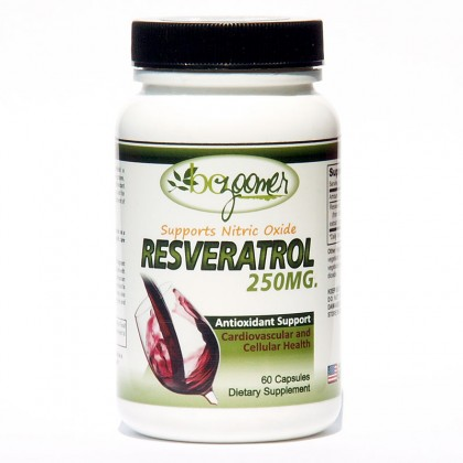 Resveratrol - 250mg  / 60 Capsules - Buy 2 Get 1 Free - Save $29.95
